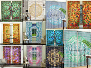 Mandala Tree of Life Cotton Window Door Curtains Home Decor Balcony Wall Hanging