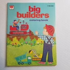 BIG BUILDERS 1140 1975 Whitman VINTAGE COLORING BOOK