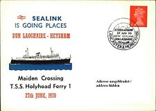 Schiffspost Maiden Crossing Schiff Ship TSS HOLYHEAD FERRY Lancaster & Morecambe