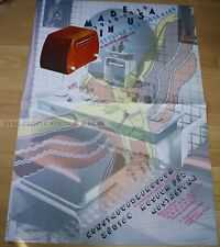 SWISS EXHIBITION POSTER 1983 - MADE IN USA 1930-1950 STYLING FOR EVERYONE - ART