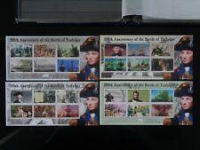 SOLOMON ISLANDS 2005 BATTLE OF TRAFALGAR 24v SHEETLETS x 4 MH MINT SG1087/1110