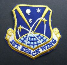 USAF AIR FORCE SPACE WING SHIELD EMBROIDERED PATCH 3.5 INCHES