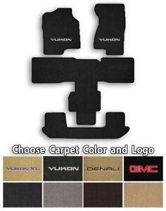 GMC Yukon 4pc Classic Loop Carpet Floor Mats-Choice of Carpet Color & Logo