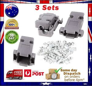 3 Pcs DB9 RS232  Plastic Cover/ Shell /Housing kit