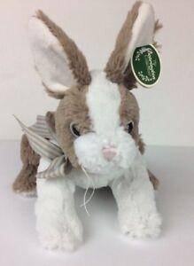 "NEW The Bearington Collection Beige White Bunny Rabbit Plush 10"" Long"