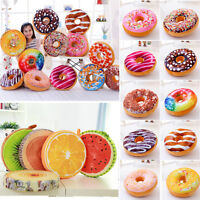 Donut Fruit Cushion Soft Pillow Chair Pads Round Seats Home Car Sofa Bed Decor
