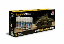 ITALERI 440AP Acrylic Set WWll Military Allied Army 6x20ml
