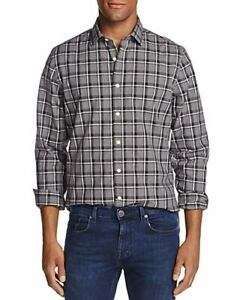 THE MENS STORE Button-Down Long-Sleeve Dress Shirt XXL 2X NWT Black/Gray