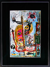 "Louis Vuittonet Original painting on paper 11"" x 17"" Framed"