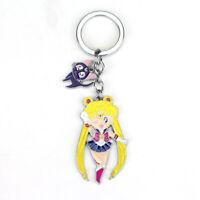 Sailor Moon Usagi Tsukino Anime Cartoon Enamel Keyring Keychain Free Gift Bag