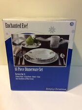 Enchanted Eve 16-pc Simply Christmas Ceramic Dinnerware Set ~ New In Box