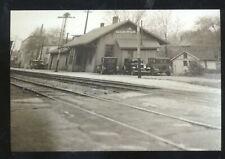 REAL PHOTO FINDLAY OHIO RAILROAD DEPOT TRAIN STATION POSTCARD COPY