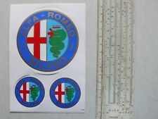 3 Stück Felgen- und Radkappenaufkleber - Alfa Romeo - Sticker, Abziehbild