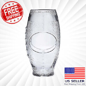FOOTBALL Shaped Drinking Glasses Oval NFL Cups Mugs Beer Stein 23 Oz
