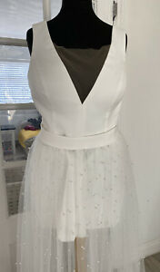 Bridal 3 Piece With Playsuit And Pearl Skirt, UK16 (street Size 14)