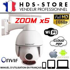 WANSCAM HW0054 CAMERA DÔME IP WIFI FULLHD 1080P JUSQU'A 256 GO ZOOM X5 LED ARRAY
