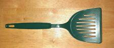 Vintage Ekco Wide Green  Nylon Plastic Slotted Spatula Flipper Turner USA