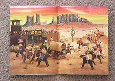 Playmobil Vintage Civil War Fort Bravo Instructions Collectors Poster 3733 VHTF