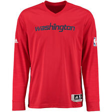 Men's Washington Wizards Adidas 2015 On-Court Authentic L/S Shooting Shirt - M