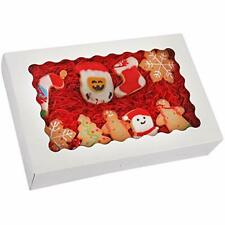 20 Pack Bakery Boxes With Window 12 X 8 X 25 Large White Cookie Boxes Aut