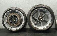 04-09 HYOSUNG COMET GT 650 OEM FRONT & REAR WHEEL 2004 2005 2006 2007 2008 2009