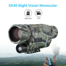 5x40 Infrared Night Vision Monocular HD 8GB Storage Memory for Hunting Outdoor