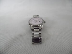 Rotary Ladies Silver Dial Stone Set Bracelet Watch Womens LB03042/07 RF4794