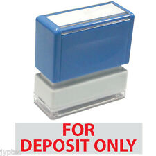For Deposit Only Jyp Pa1040 Pre Inked Rubber Stamp Red Ink