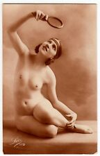 Petite NUDE ART DECO WOMAN esile signora nude * VINTAGE 20s risque Photo PC 4