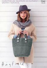 Ladies Colour Block Sweater Knitting Pattern 30-40 Inch Sirdar Romance 7242