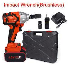 Cordless Electric Impact Wrench Gun 12 Driver Li Ion Battery High Power