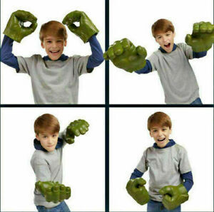 Kids Avengers Cosplay Hulk Smash Hands Soft Doll Gloves One Pair Party Toy Gift