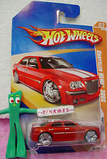 2009 Hot Wheels Track Stars *CHRYSLER HEMI 300C* #61/190 ~Red-Orange;BLINGS ~061