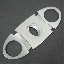 STEEL POCKET TOBACCO CIGAR CIGARETTE CUTTER CLIPPER DOUBLE 2 TWIN BLADE GIFT 8Q