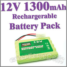 1 12V 1300mAh Ni-MH Rechargeable Battery Pack For RC Car Tamiya Connector Plug