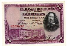 Espagne SPAIN ESPANA Billet 50 PESETAS 1928 P75 XF / SPLENDIDE