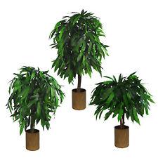 Leaf Design UK Extra Large Artificial Mango Tree Plant - Potted in Black Pot