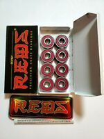 BONES REDS Skateboard Bearings 8-Pack 8mm Precision Size 608 (Standard) Open box