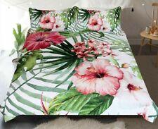 Bedding Set Home Textiles Flowers Leaves Duvet Cover Tropical Plants Bed Clothes