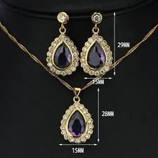 Cubic Zirconia Gold Sets Jewellery