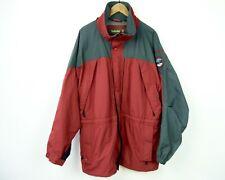 TIMBERLAND Men's XL Full Zip Up Red Nylon Jacket Outdoors Snow Skirt Coat Parka