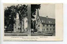 Reading MA Mass Woburn Street Churches, Congregational & Baptist, early