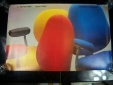 "Vintage Herman Miller ""Ergon Chairs"" Print Advertising Poster  Very Rare"