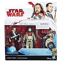Star Wars Force Link Chirrut Imwe & Baze Malbus 2-Pack Action Figures