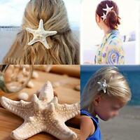 Girls Beach Women Hairpin Star Sea Starfish Hair Clip Jewelry for 2 Pcs