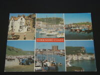 YORKSHIRE COAST 6 VIEWS 1996 POSTCARD