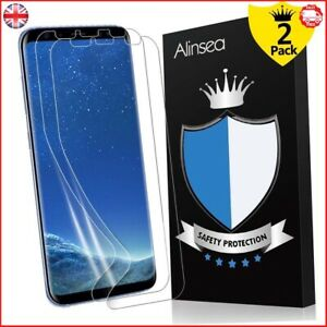 Alinsea Screen Protector For Galaxy S8 Pack Of 2 Bubble Free Ultra Thin NEW