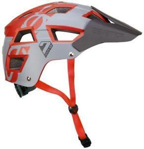 7 Protection 7iDP M5 Dirt Jump Bike Helmet MTB BMX Skate Cycling  - Red / Grey