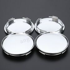 4pcs Universal 63mm Car Wheel Center Hubs Caps Covers NO Badge Emblem Set Chrome
