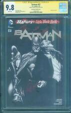 Batman 47 Cgc Ss 9.8 Capullo Alex Ross Variant Harley Quinn 1 B&W homage Cover